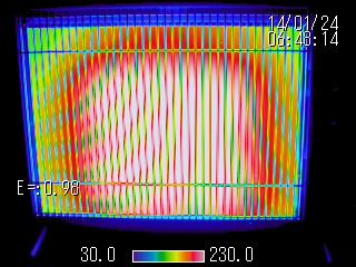 熱画像(電気ヒーター)